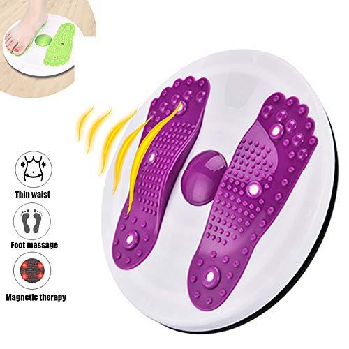 Magnet Massage Twisting Waist Disc, Hüften Und Taille Balance-Board Drehbare Platte, Home Körperformung Fußmassage Twisting Waist Machine,Lila