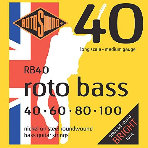 Rotosound Nickel Medium Gauge Roundwound Bass Strings (40 60 80 100)