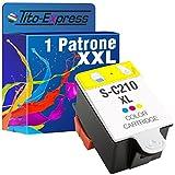 Tito-Express PlatinumSerie 1 Patrone Color XXL als Ersatz für Samsung INK-C210 | Für CJX-1000 CJX-1050 W CJX-2000 FW