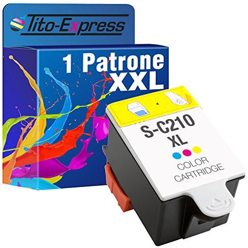 Tito-Express PlatinumSerie 1x Tintenpatrone XXL für Samsung INK-C210 Color CJX-1000 CJX-1050W CJX-2000FW