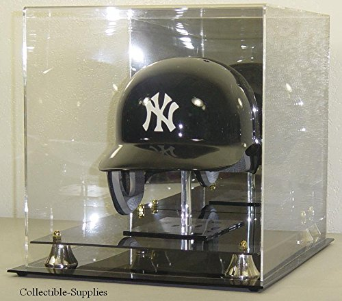 FULL SIZE MLB BASEBALL HELMET DISPLAY CASE with STAND