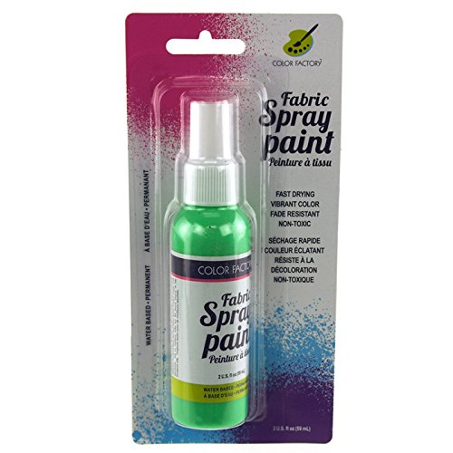 Homeford Firefly Imports Fabric Color Spray Paint, 59 mL, 5-Inch, Neon Green,...