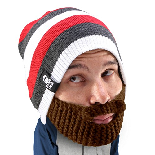 Beard Head Stubble Cruiser Beanie, Brown, One Size