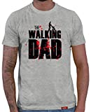 HARIZ Herren T-Shirt Papa Collection 36 Designs Wählbar Grau Urkunde Papa01 The Walking Dad XL