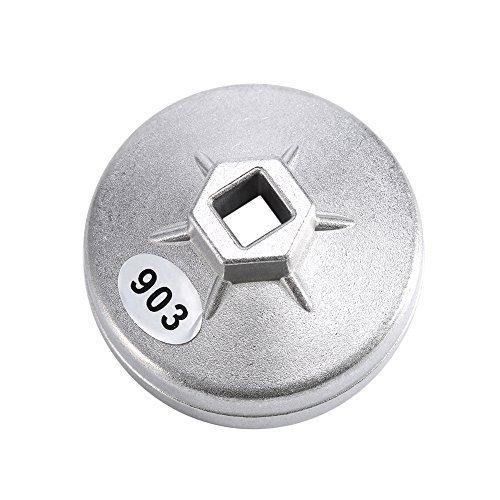 Yosoo 74mm 14 Alu Ölfilterschlüssel Werkzeug 903 Silber