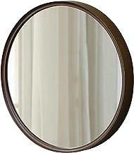 MU Lustro ścienne małe okrągłe drewniane wiszące lustro do makijażu dekoracyjne lustro do domu sypialni salonu toaletka sz...