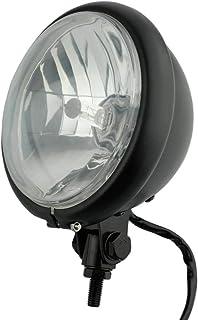 "Black 5.75"" H4 Halogen Motorcycle Headlight Lamp Bulb Bottom Mounting For Harley Honda Kawasaki Suzuki Yamaha"