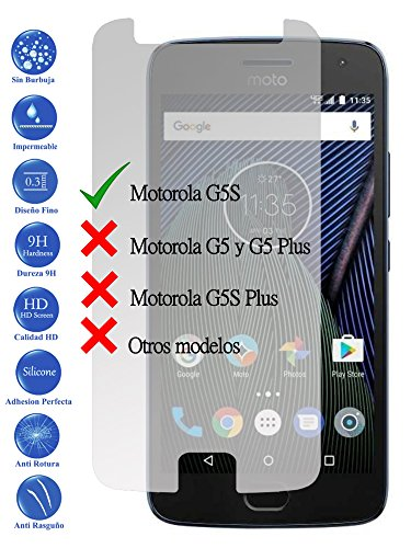 Todotumovil Protector de Pantalla Motorola Moto G5S 5.2 de Cristal Templado Vidrio 9H para movil