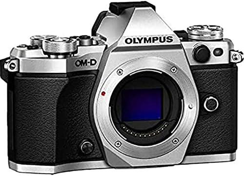 Olympus V207040SU000 OM-D E-M5 Mark II Micro Four Thirds Digital Camera Body Silver (Renewed)