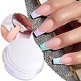 White Nail Art Stamper Clear