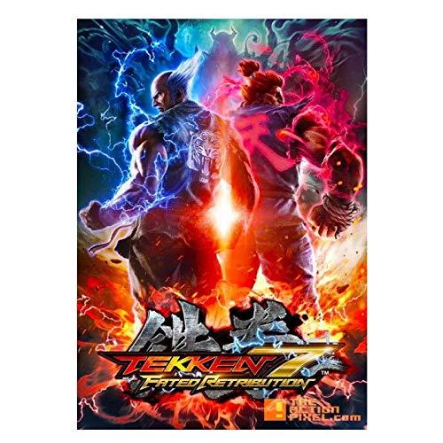 AZTeam Tekken Manga Xbox 360 Póster De Videojuegos Arte De Pared para Decoración De Pared Cuadros Impresiones En Lienzo Arte De La Pared Decoración De Regalo -60X80Cm Sin Marco