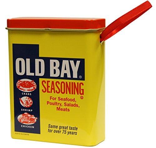 Old Bay 3Pulgadas por Bahía de 3,5Pulgadas Old condimento Puede Adorno de Navidad
