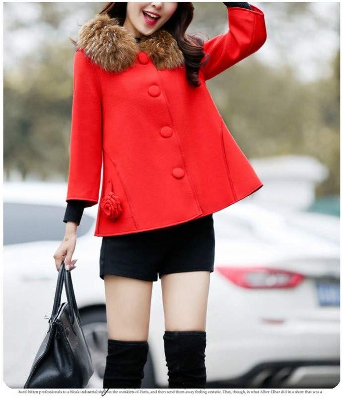 Coat Jacket, Woolen Coat, Cropped Sleeves, Woolen Coat, Women's Winter ShortBreasted Woolen Coat, XQY