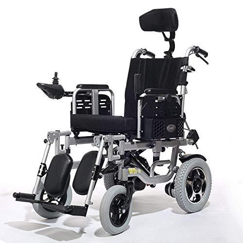 WXDP Elektrischer, zusammenklappbarer Rollstuhl mit Selbstantrieb für ältere Menschen, voll liegend, für ältere...