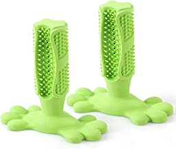 BBDOGO 2PCS Dog Chew Toothbrush Stick Tooth Cleaner Puppy Dental Care Brushing Stick Natural Rubber Bite Resistant Chew Toys CW093
