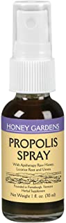 Honey Gardens Bee Propolis Throat Spray | with Apitherapy Raw Honey, Licorice Root and Usnea | 50 Servings | 1 Fl. Oz.