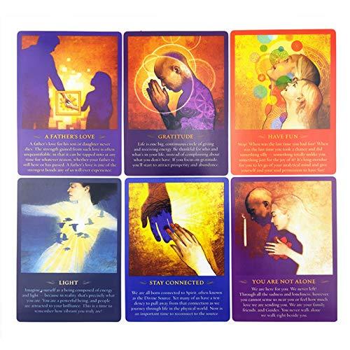 50 Cartas Tarot Card, Mensaje Espiritual, Guía Diaria, Oráculo, Cartas del Tarot, Misterioso Juego De Mesa De Adivinación Y Astrología