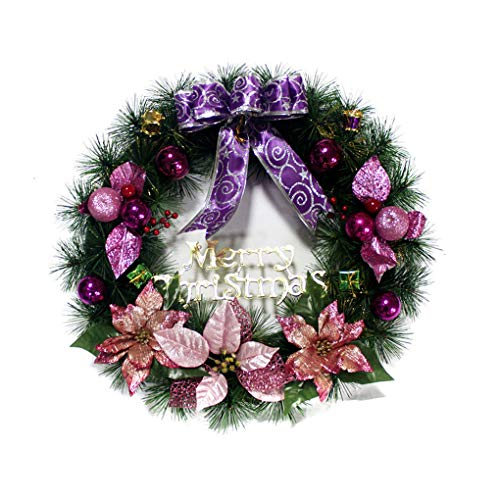 GFCGFGDRG Christmas Wreath with Bow Handcrafted Elegant Holiday christmas wreath decorations christmas wreaths for front Wreath for the Front Door