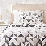 AmazonBasics - Juego de ropa de cama con funda de edredón, de satén, 135 x 200 cm / 50 x 80 cm x 1, Multicolor (Diamond Fusion)