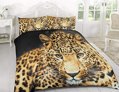 ARLINENS New 3D Effect Animal Printed duvet cover Bedding set with Pillocases in following Designs and Sizes: (Cheather, Double)