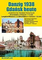 Stadtplan Danzig 1938/Gdansk heute: Innenstadt im Massstab 1:10.000, Langfuhr/Wrzeszcz und Oliva/Oliwa im Massstab 1:20.000