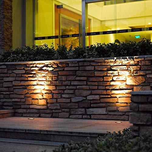 Lucande LED Bodeneinbauleuchte 'JOS', schwenkbar (wasserdicht) (Modern) in Alu aus Edelstahl (3 flammig, A+, inkl. Leuchtmittel) - Außenleuchte für Garten, Terasse, Balkon & Haus
