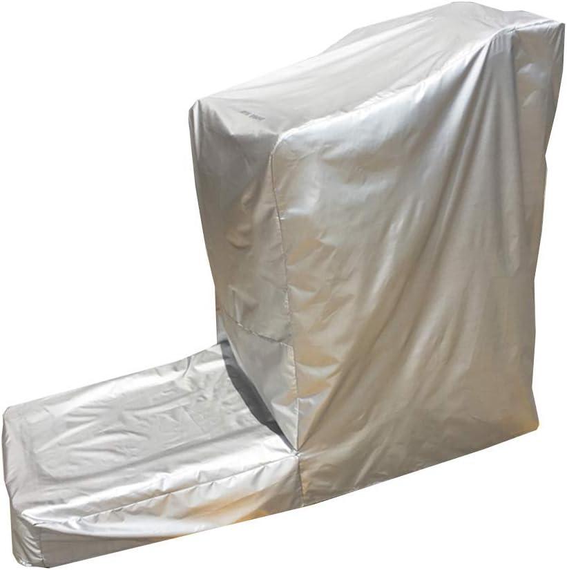 HYLH Cubierta de los Muebles de jardín Lona Protectora Mesa de jardín Tela de Oxford Cinta de Andar Protector Solar Impermeable Anti arañazos No Plegable (Color: Gris Plateado, Tamaño: 180x85x140cm)