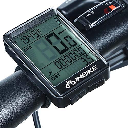 ZHANGZHIYUA Ordenador de Ciclo, cuentakilómetros de Bicicleta Velocímetro para Mountain Road Riding...