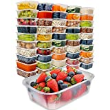 [50pk,740ml] Food Storage Containers with Lids - Food Containers Meal Prep Plastic Containers with Lids Food Prep Containers Deli Containers with Lids Freezer Containers with lids Disposable Containers