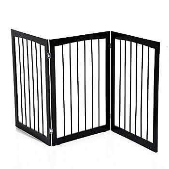 Pawhut Barrière modulable Pliable barrière de sécurité 160L x 76H cm MDF