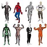 Funsuits Original FUNSUIT - Disfraz de Segunda Piel (Pegado al Cuerpo) Gangster Carnaval Halloween - Talla S / M / L / XL / XXL [M] - Varios diseños
