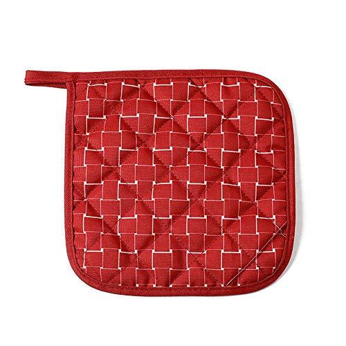 OUY Gaming Chair Massage Startseite Stoff Isolierung Pad Tischset Coaster Schüssel Pad Pot Platte Anti-heißen Pad Heat Resistant Extra gepolsterter Bürostuhl (Color : Red Squares, Size : 18x18cm)