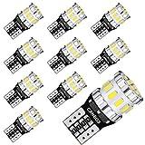 AGLINT W5W T10 LED Lampadine CANBUS 12V 194 168 555 501 2825 Cuneo Tipo Lampadine Per Auto Luce di Indicatore Laterale Luci di Posizione Targa Tettuccio Lampadine 6000K Bianco 10 Pezzi