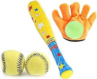 Kids Baseball Toy Set of 4, Volwco Baseball kit Children Baseball bat set for Child Toddlers Outdoor and Indoor entertainm...