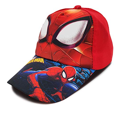 VRITRAZ Cartoon Character Printed Little Baseball Cap for Kids, Baby Girls and Boys 3-12 Years Super Red