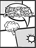 The Blank Comic Book: Blank Comic Book : Large Print 8.5x 11 120 Pages - Drawing Your Own Comic Book (Blank Comic Books) (Volume 2)