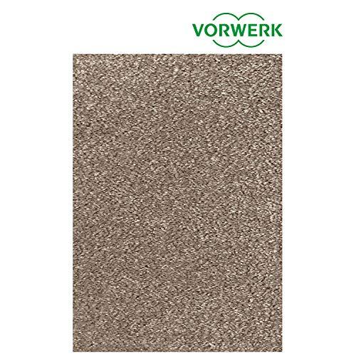 Vorwerk vlakpolig tapijt effen in taupe/bruin woonkamer 160/230 cm bruin