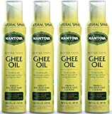 Mantova Ghee Oil, 100% Pure Cooking Oil Spray, Omega-3, perfect for Keto snacks, baking, grilling, or cooking, our oil dispenser bottle lets you spray, drip, or stream with no waste, 5 oz (Pack of 4)