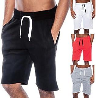 Men Sport Pants Loose Drawstring Gym Fitness Training Running Shorts Trousers - White 2XL