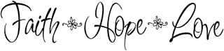 Best Faith Hope Love Quote Wall Decal Sticker, Creatiee Removable DIY Vinyl Bible Verses Wall Decor Art Mural for Home Living Room Bedroom - Inspirational & Home Warming Gift Reviews