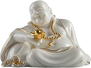 Buddha Statue Decoration Fengshui Buddha Statues for Lucky & Happiness,Laughing Buddha Figurines Sculptures Statue Home De...