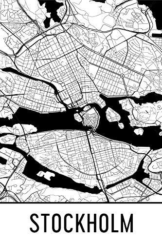 Modern Map Art Stockholm Print, Stockholm Art, Stockholm Kaart, Stockholm Zweden, Stockholm Poster, Stockholm Wall Art, Stockholm Gift, Stockholm Decor, Stockholm Cityscape
