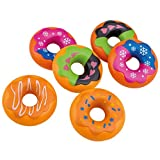 6 Spielzeug Donuts mit Verzierungen Spiellebensmittel Spieldonuts Kaufladen Kaufmannsladen Zubehör Kinder Spielküche Kinderküche Spielkuchen Spielset Teile tlg Spielgebäck Rollenspiel Kreativspielzeug