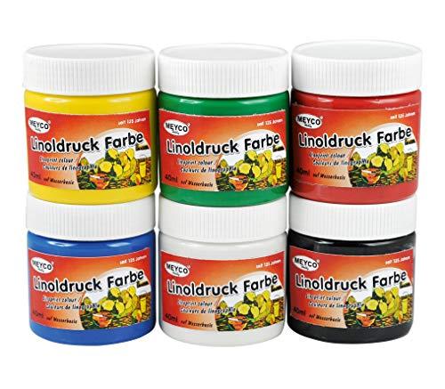 Linoldruckfarben Kartoffeldruck Set 6 Stück Stempelfarbe Linoldruck