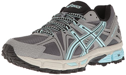 ASICS Women's Gel-Kahana 8 Trail Runner, Titanium/Clearwater/Silver, 8.5 M US