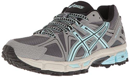 ASICS Women's Gel-Kahana 8 Trail Runner, Titanium/Clearwater/Silver, 10 M US