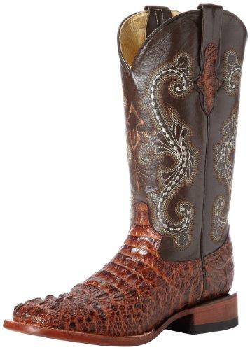 Ferrini Women's Print Crocodile S-Toe Western Boot,Sport Rust,8.5 B US