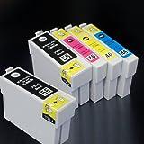 むさしのメディア EPSON(エプソン) IC4CL56+BK1 (4色+黒1個) 互換インクカートリッジ ICチップ付き 残量表示対応