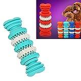 Hundespielzeug Kauen-Spielzeug for Pet Zahnreinigung ungiftiges weiches Gummi, 12cm Huangchuxin (Color : Baby Blue)