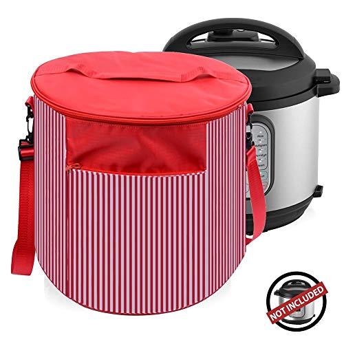 Voor 6 liter instant-pan, afdekhoes voor apparaten, reistas voor snelkookpannen, met tas voor accessoires.